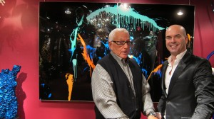 Bud Greenbaum, gallery director, with artist Kristian Verono